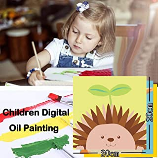 Home,Garden,Home Diy,Diy Digital Oil Painting 20x20cm Room Decoration Cartoon Oil Paint For Children Children'S Diy Digital Painting 20x0 (Frameless) Khaki