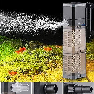 Fish Tank Filter 3-in-1 Aquarium Submersible Pump Water Pump for Fish Tank 7W 8W 20W 25W (CHJ-902/20W)