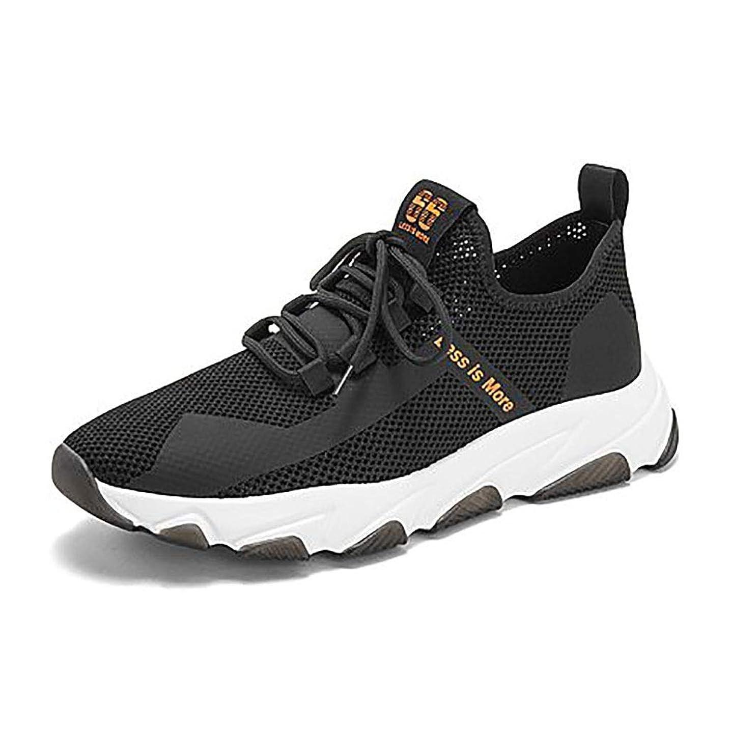 改修巨大な試験カジュアルシューズ 夏のラウンドヘッドロートップシューズ、通気性と消臭性のある紳士靴、カジュアルスポーツシューズを助けるためにくり抜かれた (Color : Black, Size : 41)