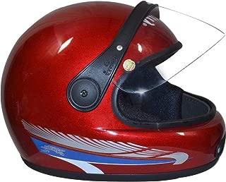 Kart Trade Unisex Pari Glossy Open Face Helmet Cap (Red)