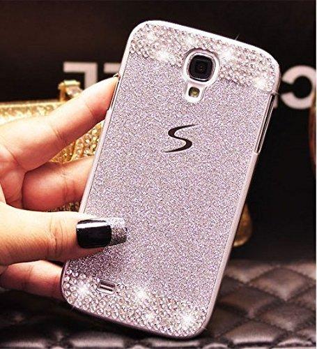 DOOPOO Samsung Galaxy S6Edge Case, TM Luxury Bling Diamond with Crystal Rhinestone Vibrant Trendy Color Slider Style Rigida per Samsung Galaxy S6Edge (Samsung Galaxy S6Edge, Rosa + Diamond)