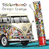 30x150cm - Stickerbomb Auto Folie Glänzend - Sticker Logo Bomb - JDM Aufkleber - Design: N
