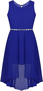 easyforever Kids Girls Sequined Lace Chiffon Wedding Bridesmaid Birthday Party Flower Girl Dress
