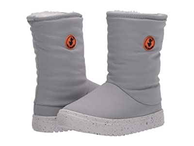Save the Duck Kids Faux Fur Lined Snow Boots (Little Kids/Big Kids) (Shark Grey) Kids Shoes