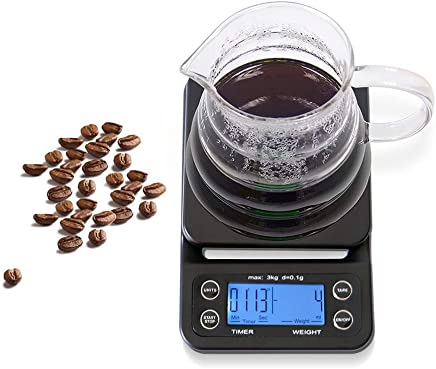 Digital Kitchen Scales, Hand-Washed Coffee Scales Electronic Scales Kitchen Scales Baked with Timing Functions Electronic Scales,Green