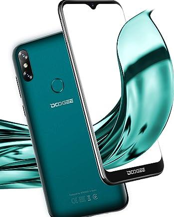 Android 9.0 Moviles Libres 4G, DOOGEE Y8 Smartphone Teléfono Dual Sim, 19:9 Pantalla 6.1 '' 3Go+16Go, 3400mAh, Cámara Trasera Doble 8MP+5MP, Face ID + Huella Digital - Verde Esmeralda