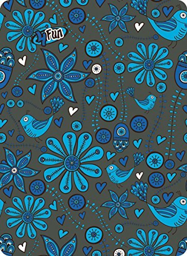 4 Fun Sport Fleur Polartec Écharpe Taille Unique Bleu