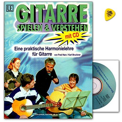 Guitarra Jugar y entender con CD y Dunlop Púa de práctica Armonía Lección para guitarra de Fred Resina–ue311009790008058745