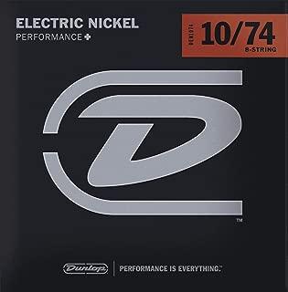 Dunlop DEN1074 Nickel Wound Electric Guitar Strings, Medium, .010–.074, 8 Strings/Set