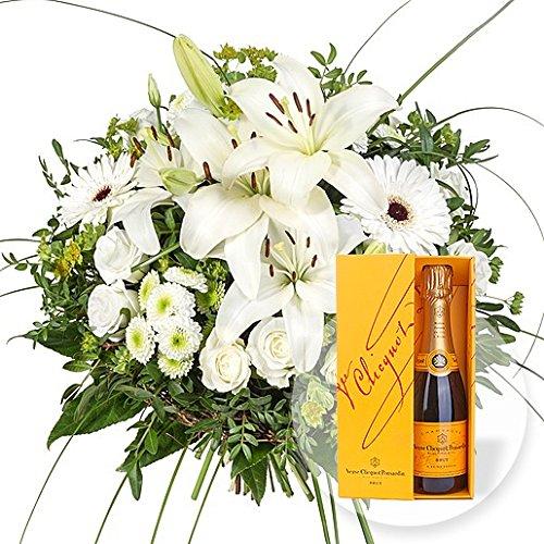 Blumenstrauß Allegra und Champagner Veuve Clicquot