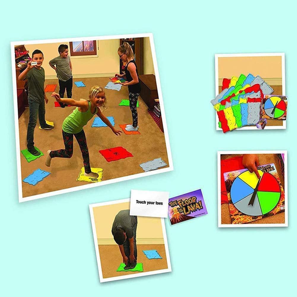 AIMERKUP Tarjeta de juego innovadora Juego de mesa para fiestas familiares Volcán interactivo Juego de cartas giratorio para niños Juego de mesa familiar para niños y adultos eco friendly: Amazon.es: Bricolaje y