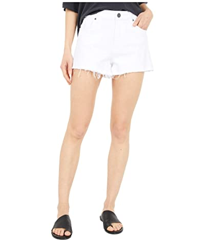 KUT from the Kloth Jane High-Rise Shorts with Fray Hem in Optic White (Optic White) Women