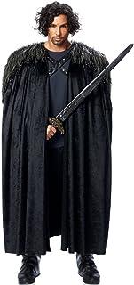 Capa de caballero de Juego de Tronos, basada en Jon Snow y Sam Tarly. De piel sintética