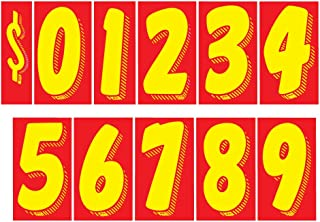 Vinyl Number /& For Sale Decals 13 Dozen Car Lot Windshield Pricing Stickers