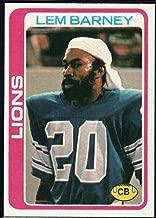 Football NFL 1978 Topps #82 Lem Barney Lions