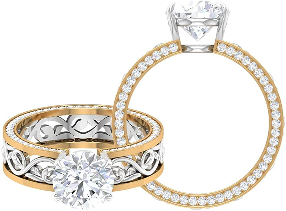 8 MM Engagement Ring wholesale with Round Sid San Jose Mall and Solitaire Cut Moissanite