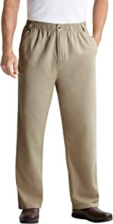 Men's Big & Tall Knockarounds Full-Elastic Waist Pants in Twill Or Denim