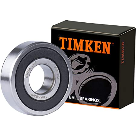 6304-2RS 20x52x15 Sealed 20mm//52mm//15mm 6304RS Deep Groove Radial Ball Bearings