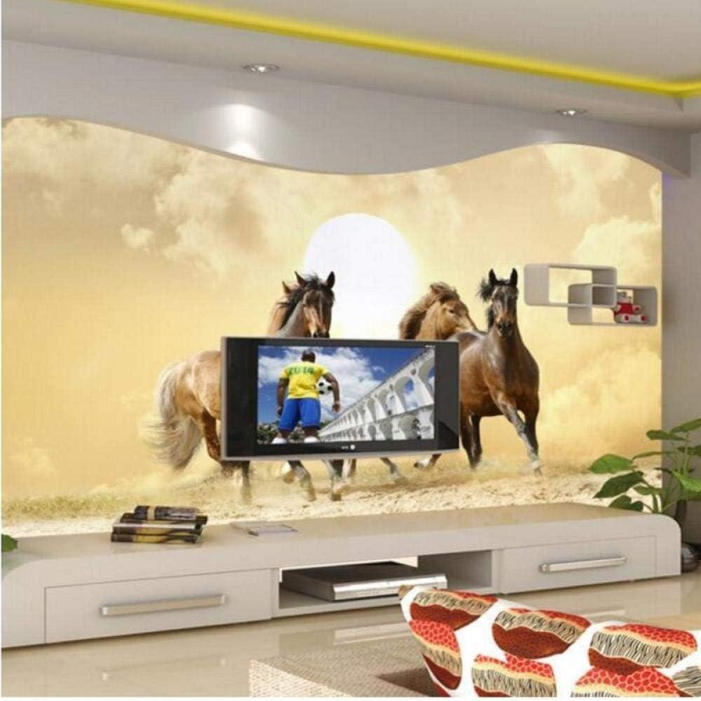 Photo Denver Mall Wallpaper San Diego Mall 3D Dancing Horse Paint Living Room Bedroom Hotel