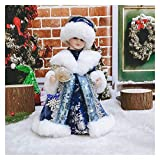 Christmas Doll Santa Claus Dolls Holiday Plush Characters Christmas Children Toys Birthday Party Gifts Table Decoration Christmas Decoration (Color : Fr45 46, Size : 30x14cm Size S)