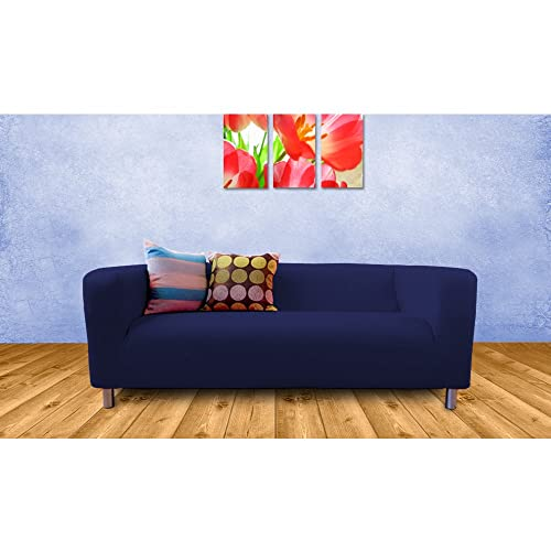 Shopisfy Replacement Cover For Ikea Klippan Sofa 2 Seater   Navy Blue