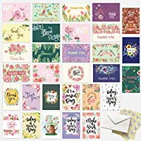 60-Count Hotcinfin 4 x 6 inches Thank You Cards Boxed Set
