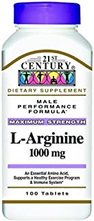 L-Arginine 1000 Mg Tablets, 100-Count (Pack of 3) / L-Arginine 1000 mg, 100-Count (Pack de 3)