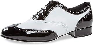 Diamant 177-075-284 - Scarpe da ballo da uomo, in pelle verniciata nera, vestibilità regolare, tacco da 2,5 cm, Made in Ge...