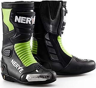 UK 12//EU 46 Bolt S13 Verde Botas de Cuero Impermeables Crash Riding Sports Bici CE Approbado