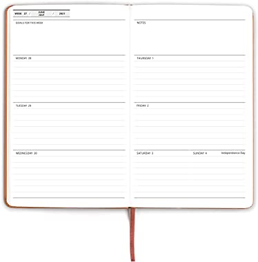 Hardcover Academic Planner 2021-2022, Daily Weekly Monthly Personal Organizer-5 x 8.2 Inches for Home School Plan, Study and
