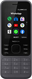 Nokia 6300 4G 2.4 Inch UK SIM Free Feature Phone with WhatsApp and Google Assistant (Single SIM) - Charcoal