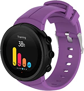 Consumer Electronics Silicone Wrist Strap for SUUNTO Spartan Ultra(Black) (Color : Purple)