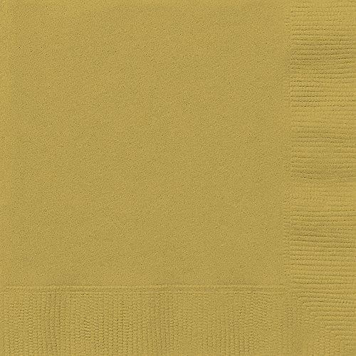 Papierservietten - 16,5 cm - Gold - Packung mit 50 Stück