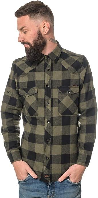 ROCK-IT Apparel® Camisa de Franela para Hombres Manga Larga Camisa de leñador Camisa de Cuadros Camisa Casual Premium Camisa de Cuadros Hecha en ...