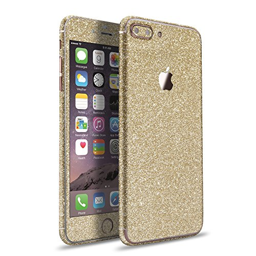 LAMINGO iPhone 8 Plus iPhone 7 Plus Glitzerfolie Skin Diamond Sticker Klebefolie in champagner