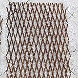 Holz Rankgitter 200 cm Weide Rankhilfe Pflanzengitter für Pflanzenklettern Langlebige zusammenfaltbar versenkbare