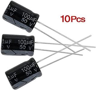 20/% Rad 100 mfd 50V Set of 10 Nichicon 105°C Electrolytic Capacitor 100uF 50V