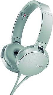 Sony MDR-XB550AP - Audífonos de diadema EXTRA BASS con micrófono para llamadas con manos libres , Blanco