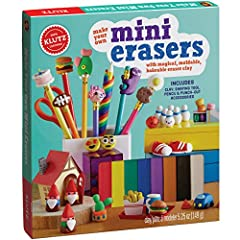 2016 parents' choice award winner Includes enough clay in the kit to make 25 erasers Use the same techniques from our best selling make clay charms activity kit Create paper crafts to hold your erasers, including a tray of sushi, a box of French frie...
