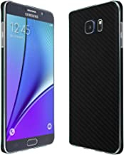 Skinomi Black Carbon Fiber Full Body Skin Compatible with Samsung Galaxy Note 5 (Full Coverage) TechSkin with Anti-Bubble Clear Film Screen Protector