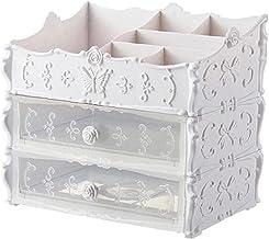 Sieraden doos sieraden opslag multilayer make-up organizer box cosmetische opslag rack desktop sier stalen type make-up op...