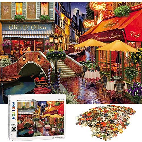 ANDSTON Puzzle 1000 Teile Erwachsene,Pädagogische 1000 Stück Spiel Puzzles für Erwachsene Kinder |Straßenansicht| , Geschicklichkeitsspiel für Die Ganze Familie,Spielzeug Geschenk Wanddekoration