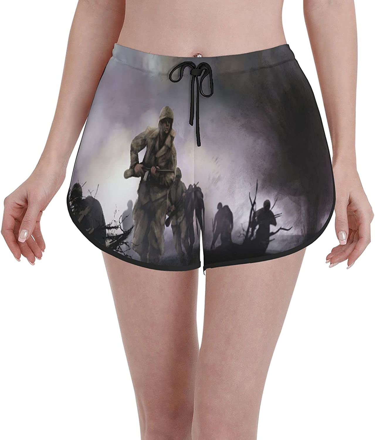 Comfortable Casual Max 51% OFF Board Shorts for American Women Soldier Bombing free shipping Girls