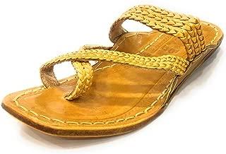 Step n Style Mens Kolhapuri Pure Leather Chappal Indian Traditional Shoes Khusa Juti