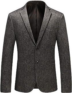 Mens Blazer Suit Jackets Slim Fit Two Button Solid Suits Coat Casual Jacket Tops Goosun Premium Plain Casual Single Breast...