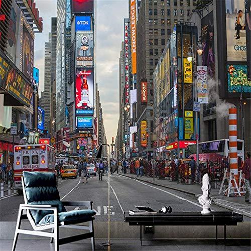 Preisvergleich Produktbild Zhcm Tapete Tapete geprägte Tapete 3D Europäische Architektur Hong Kong Street Dekoration 3D Wohnzimmer Dekoration,  250 * 175 cm