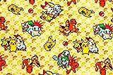 【韓国生地】 キャラクター生地 ポケットモンスター(ポケモン)第1と第8【ピカチュウ】 【イーブイ】 【フシギダネ】 【ヒトカゲ】 【ゼニガメ】 【サルノリ】 【ヒバニ】 【メッソン】 コットン100% シーチング Pocket Monster Pokemon 45cm X 110cm