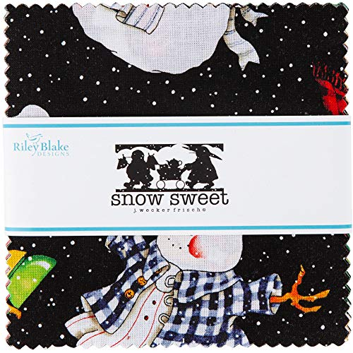 J Wecker Frisch Snow Sweet 5' Stacker 42 5-inch Squares Charm Pack Riley Blake Designs 5-9660-42