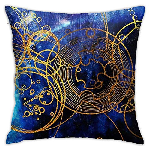 out Time Lord Writing Blue Cushion Throw Pillow Cover Decorative Pillow Case For Sofa Bedroom Fundas para Almohada 20x20Inch(50cmx50cm)