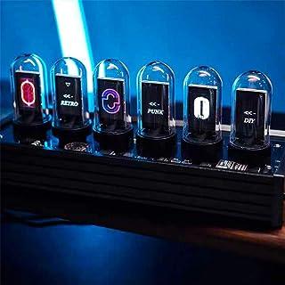 RGB LED Nixie Tube Clock, Kids Digital Clock, Creative Retro Electronic Calendar, Desk Decoration Gift, Best Boyfriend Gift